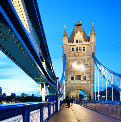 Tower Bridge at night - Stratageeb are based in London
